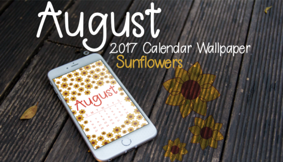 August 2017 Calendar Wallpaper Header